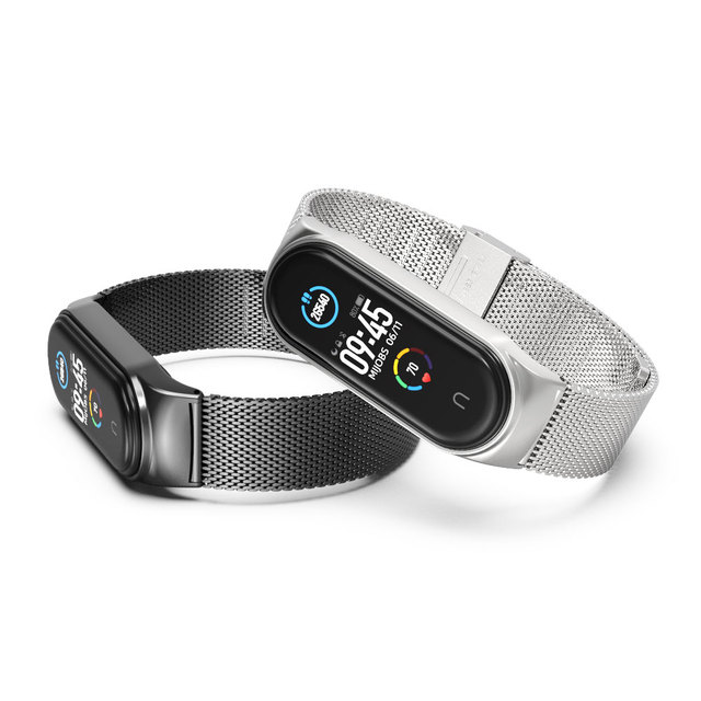 For Xiaomi Mi Band 5 Strap Miband 6 5 4 3 Metal Leather Bracelet Straps for Smart Watch Pulseira Correa for Xiomi NFC Wristbands 5