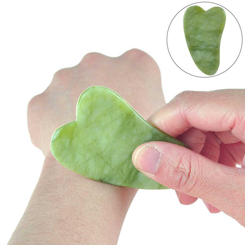 1 stücke Neue Natürliche Jade Stein Guasha Bord Massage Werkzeug SPA Therapie Gua Sha Massager Anti-Stress-Körperpflege Schaben Bord