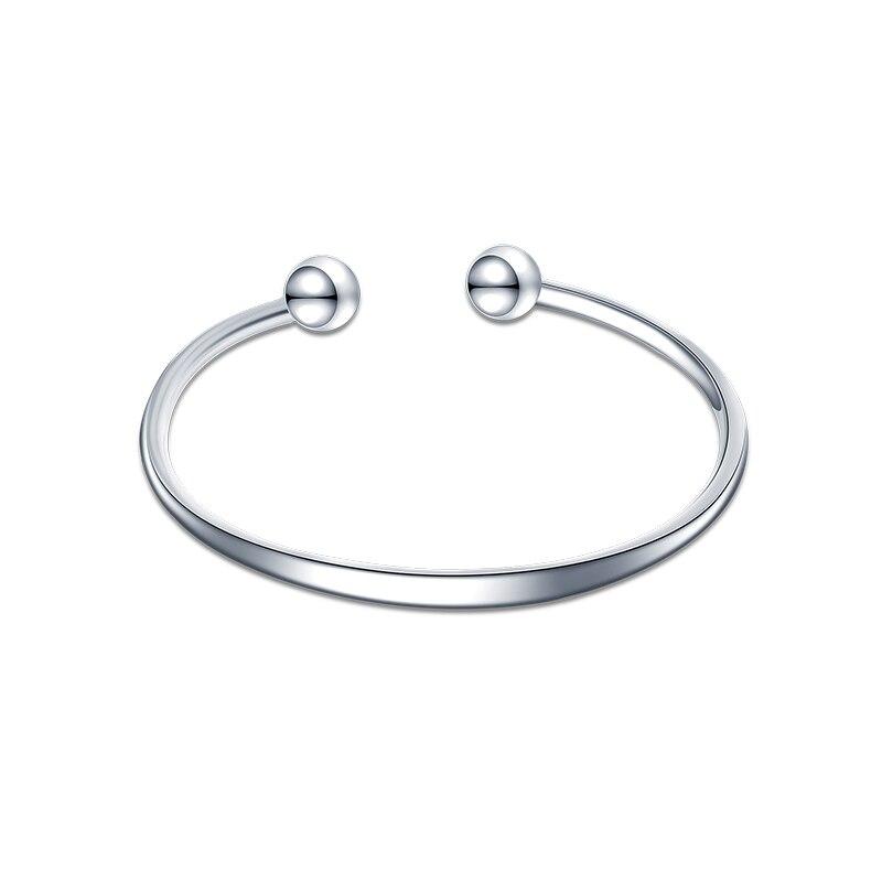 SA SILVERAGE 925 Jewelry Simple Personality Fashion Women Bangles Bracelet 11.3g Female Sterling Silver S925 Bracelet Sterling