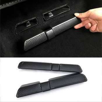 2Pcs Car Air Condition Vent Net for Skoda Kodiaq 2016 2017 2018 Back Seat Interior Rear Seat Air Duct Grille Car Accessories image