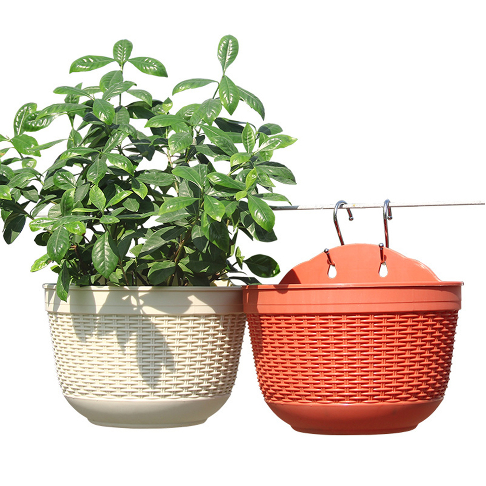 Plant Holder Semicircle Home Office Wall Hanging Fence Flower Pot Garden Planter