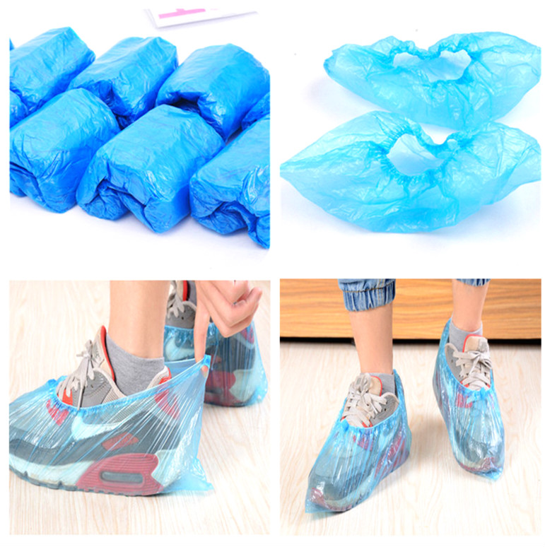 Disposable Protective Plastic Shoes Cover Thick Disposable Anti-Slip Shoe & Boot Covers In Stock.