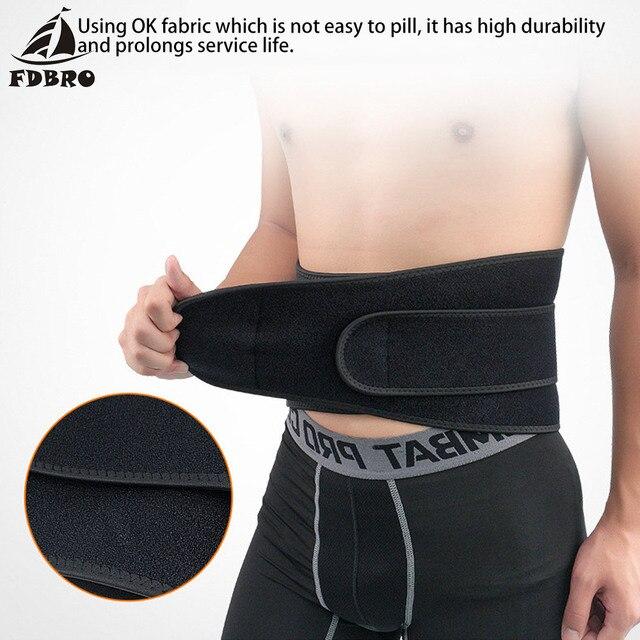 FDBRO Waist Support Corset Sport Breathable Adjustable Back Belt Slimming Boxing Body Protective Gear Waist Trimmer Sweat Belt 3