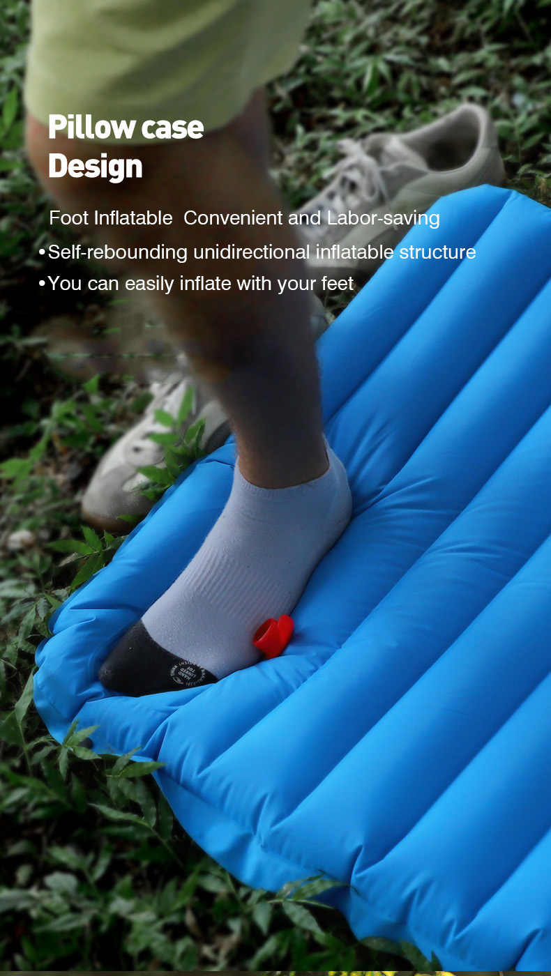Color : Blue - Inflating Bag Yousiju Colch/ón Inflable Colch/ón de Aire Colchoneta de Camping Colch/ón de Camping Ultraligero Colchoneta de Dormir Cama de Camping Almohadilla de Nailon