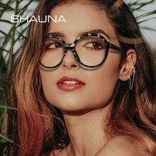 Frame Faced-Glasses-Frame Anti-Blue-Light SHAUNA Women Fashion Diamond Round Spring-Hinge
