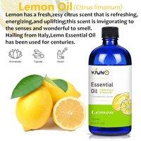 KIUNO 150 мл эфирные масла лимона 100% чистый натуральный Премиум Терапевтический класс Ароматерапия массаж расслабляющее эфирное масло 4,5 флуз