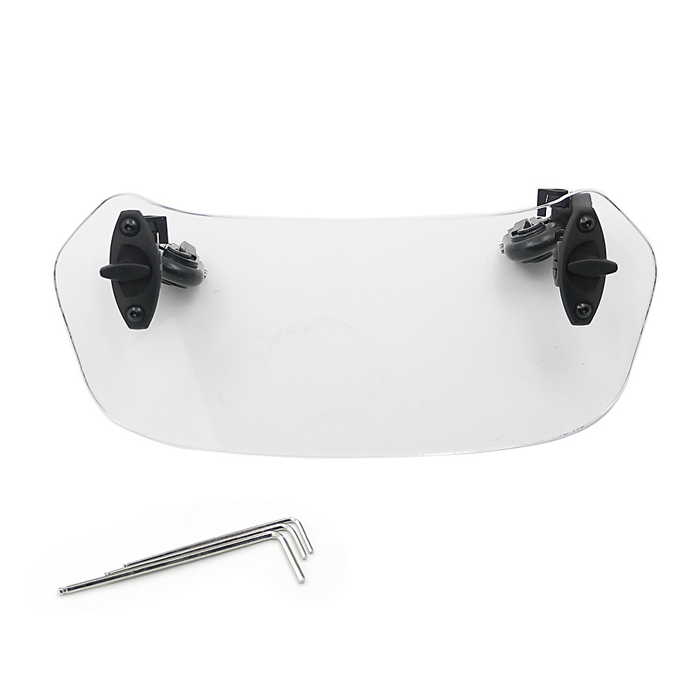 Adjustable Windshield Windscreen Spoiler Wind <font><b>Deflector</b></font> For Honda NC700 NC750 X / S NC700X NC700S <font><b>NC750X</b></font> NC750S F800G R1200GS image
