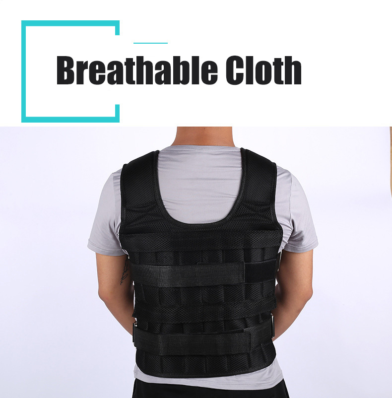 30KG Loading Weight Vest For Boxing Weight Training Workout Fitness Gym Equipment Adjustable Waistcoat Jacket Sand Clothing 2