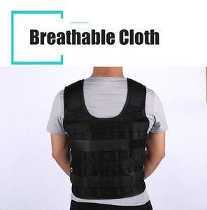 Image 3 - 30Kg Laden Gewicht Vest Voor Boksen Gewicht Training Workout Fitness Gym Apparatuur Verstelbare Vest Jacket Zand Kleding