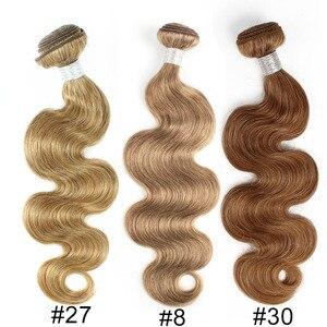 Image 5 - Bobbi Sammlung 2/3/4 Bundles Farbe 27 Honig Blonde Indische Körper Welle Haarwebart Pre Farbige nicht Remy Menschliches Haar Schuss 16 24 zoll