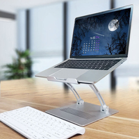 Aluminum Alloy Foldable Laptop Stand Bracket Hollow Heat Dissipation Holder for Notebook OD889