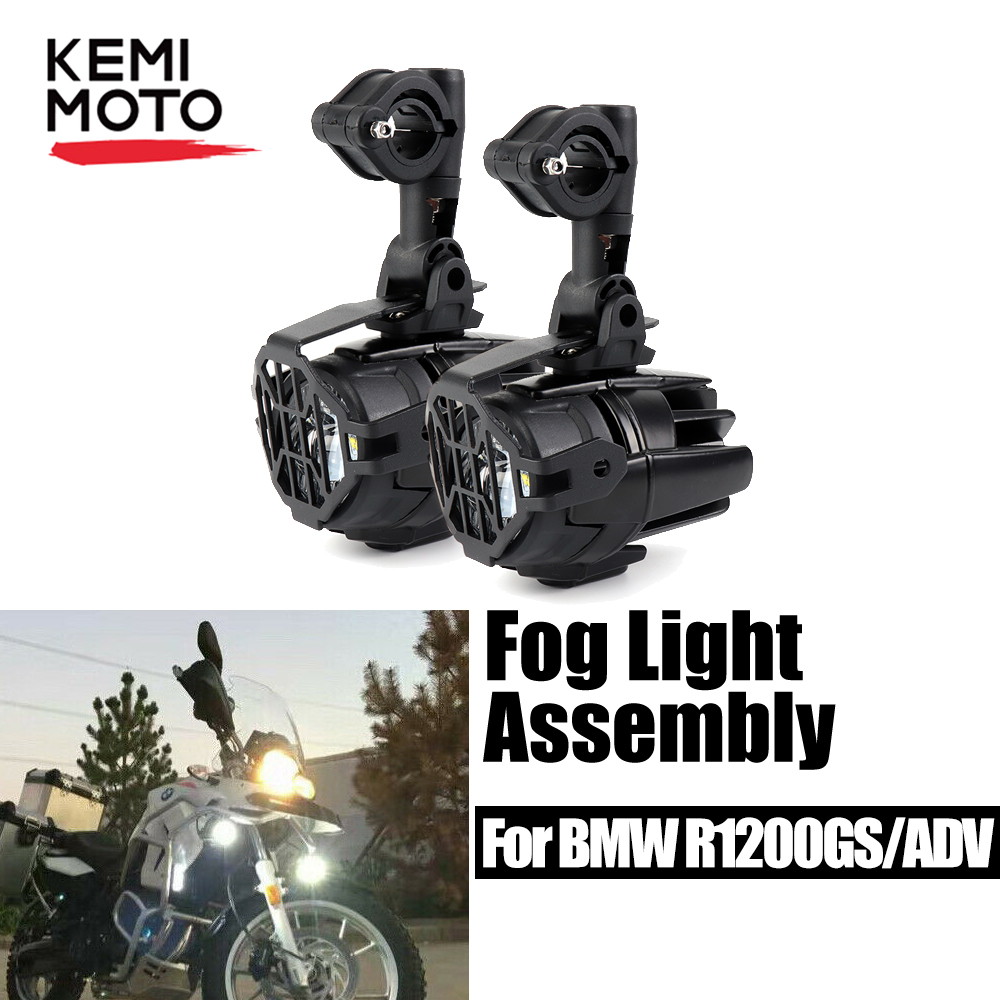 For BMW R1200GS LC Adventure F800GS F650GS Fog Light LED With Light Switch Auxiliary LED Fog Light For BMW GS 1200 GS F700GS