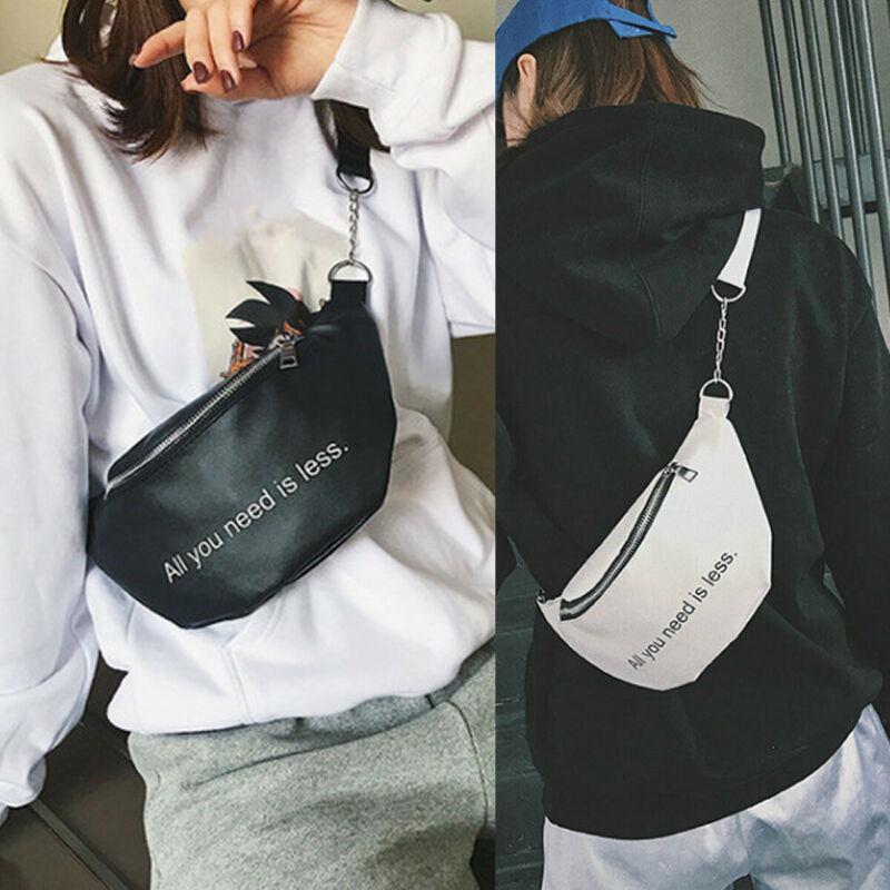 Waist Packs For Women Fashion Letter Print Waist Fanny Pack Ladies Belt Bag Pouch Travel Hip Bum Bags Large Capacity Waist Packs