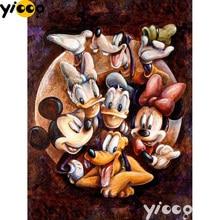 5D DIY diamond painting Cross stitch Diamond embroidery cartoon mouse family Diamond Mosaic Cartoon Decoration gift A1001