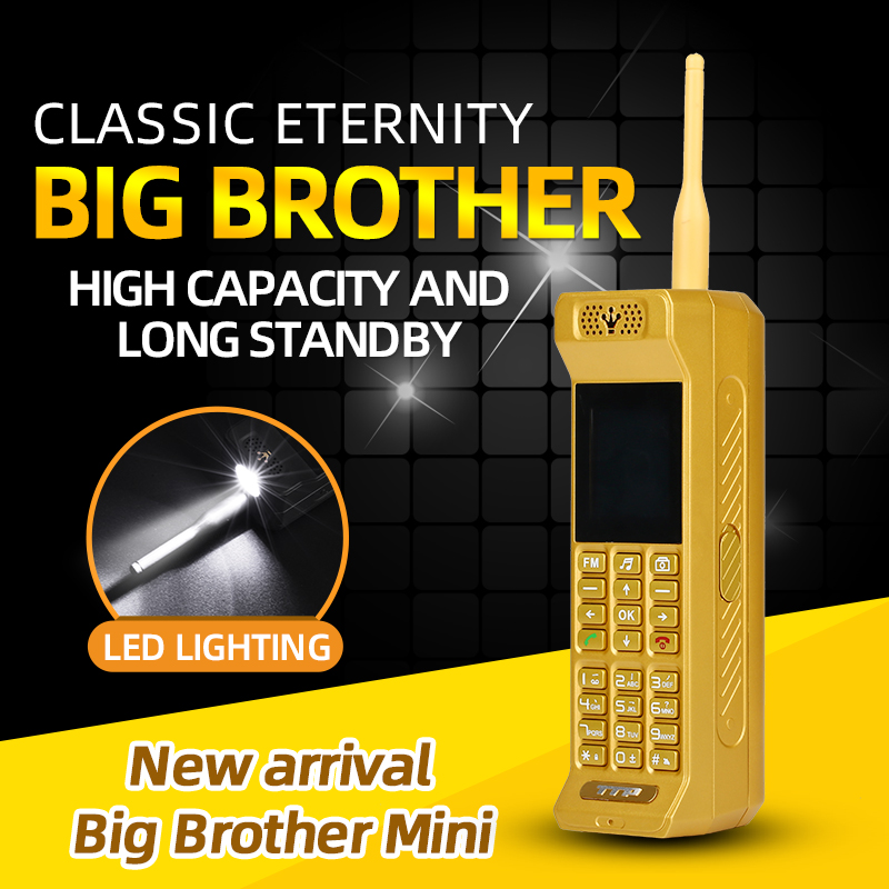 Classic Small Retro Mobile Phone Loud Speaker Bright Flashligh Powerbank Fast Dial Magic Voice Changer Bluetooth Cellphone