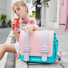 Школьная сумка для студентов ранец из искусственной кожи карамельных