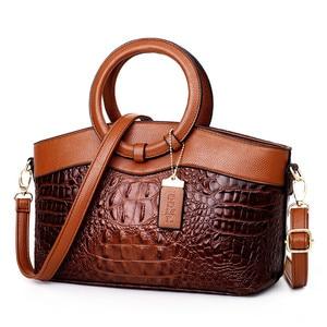 Image 2 - Gykaeo Luxury Handbags Women Bags Designer Crocodile Woman Leather Handbag Ladies Green Party Tote Shoulder Bags Sac A Main 2020