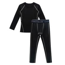 Underwear-Set Kids Children Shirt Leggings Basketball Hockey-Training Long-Sleeve Girls