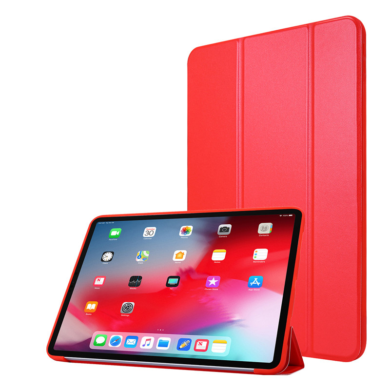 Red Yellow Cover Case For iPad 11Pro Case 2020 Tri fold PU Leather Smart Soft Silicone Case For