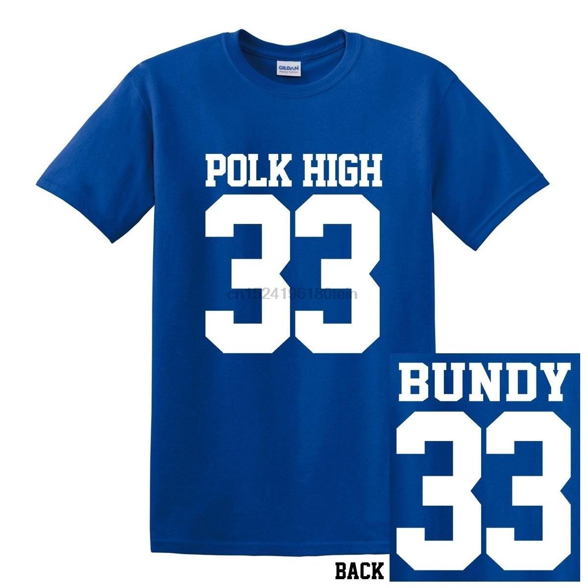 Новая футболка из Джерси для футбола с принтом «Эл Банди Женат с детьми», «POLK HIGH 33»