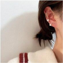 Wing Ear Bone Clip Set Earcuff Tasteful Zircon Clip On Earrings For Women Gold Silver Ear Cuff Jewelry For Girl Wedding Jewelery pinksee hot korean chic gold silver color star ear bone clip on ear cuff clip earrings for women jewelry gifts