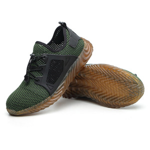 Image 3 - Safety Shoes Breathable Mesh Steel Toe Cap Labor Shoes Summer Lightweight Work Anti smashing Stab resistant Protective Footwear