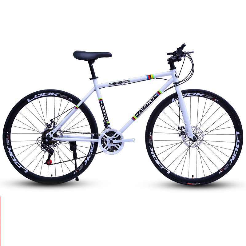 Road Bike Bicycle Double Disc Brake Speed 26 Inch 24 27 Dead Fly Fixed Gear Man And Women Adult Students