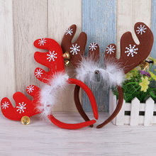 Christmas Headband Red Khaki Elk Ears Bell Headband Festive Makeup Dress Up Props Christmas Ornament New Year Party Decoration I(China)