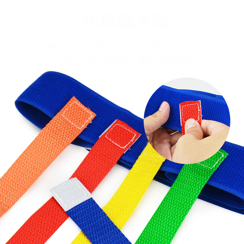 5 10pcs/set Baby Toy For Children Funny Game Toy Belt For Kindergarten Kids Catching Tail Training Equipment Teamwork Game Toys