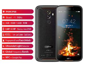 New Arrive 2019 Land IP68 Rover Phone andriod 9.0 NFC Fingerprint 3GB+16GB 4500mAh Corning Glass GOOGEL PAY 5,5