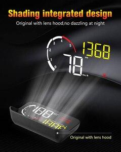 Image 2 - WiiYii M10 OBD2 HUD Head Up Display Per Auto styling Display Sistema di Allarme di Velocità Eccessiva Attenzione Parabrezza Proiettore Del Proiettore Universale