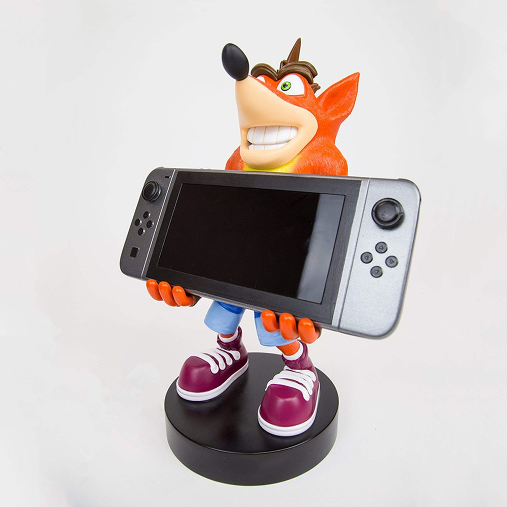 Crash Bandicoot Figure Model Cartoon Mobile Phone Holder Game Console Holder for Children Fans Gift