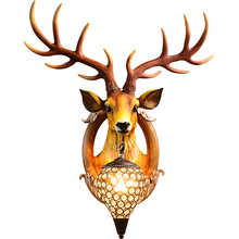 Hot Sales Nordic Vintage Antlers Wall Lamps Home Decoration Light Bedroom European Led Wall Lamp Wall Bracket Light Fitting