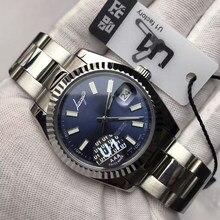 U1 factory – montre de marque de luxe AAA pour hommes, balayage mécanique automatique, mouvement, cadran bleu, datejust
