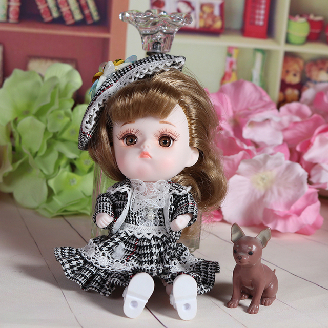 Dream Fairy 1/12 BJD DODO Doll Vintage and Perky style 14cm mini doll 26 joint body Cute children gift toy ob11 6