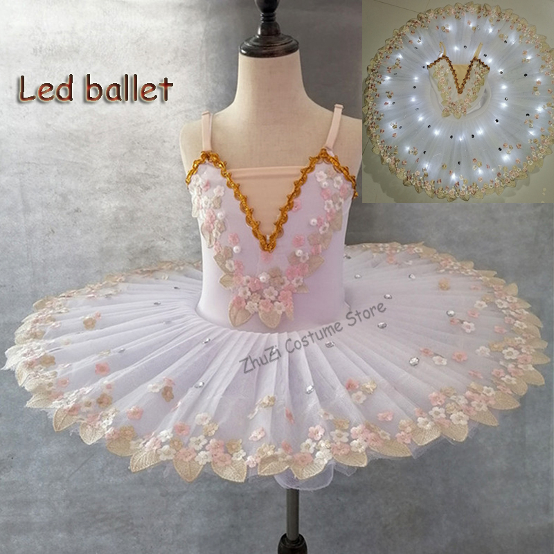 White Swan Lake Professional Ballerina Ballet Tutu For Child Kids Girls Women Adult Ballerina Party Ballet Dance Costume Girls