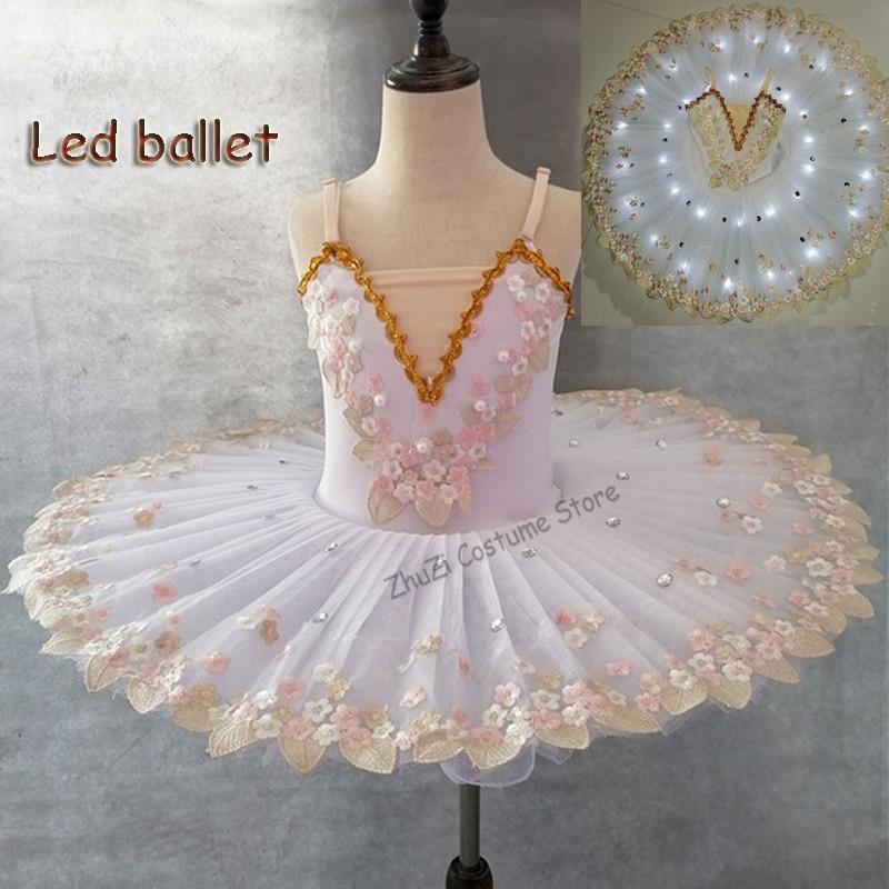 White Swan Lake Professional Ballerina Ballet Tutu For Child Kids Girls Women Adult Ballerina Party Ballet Dance Costume Girls