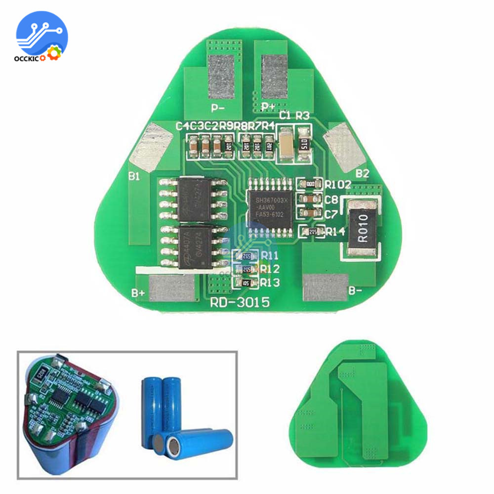 Bms 3S 4A 10.8V 12.6V 18650 Li-ion Lithium Battery Charge Protection Board Power Bank Cell PCB Balancer Equalizer For Motor