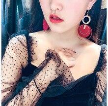 fashion bohemian big tassel earrings statement red vintage  drop dangle earring for women 2019 jewelry
