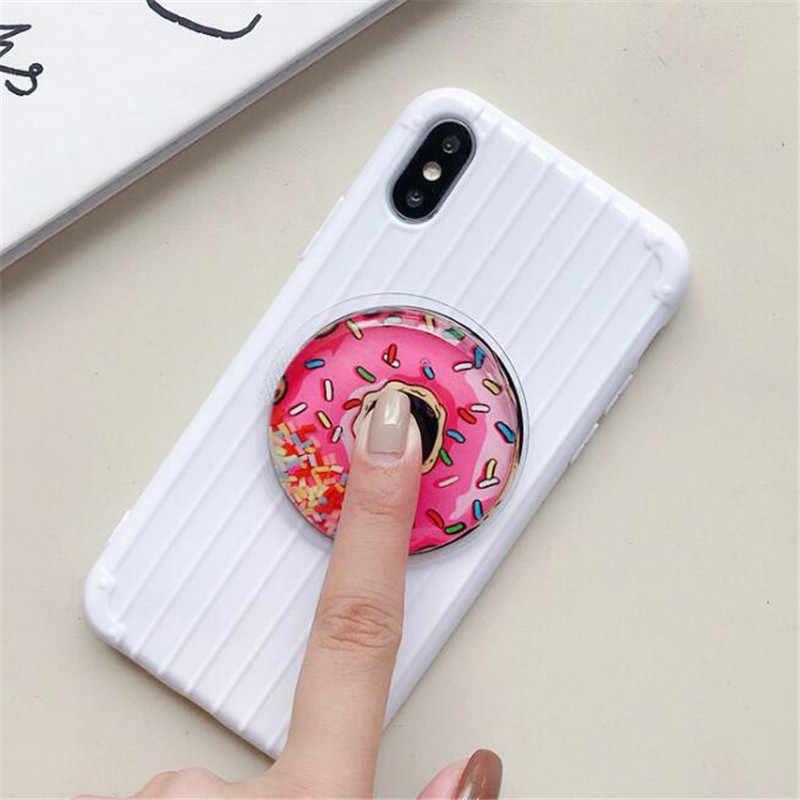 โดนัทไข่เจียวขยายStand Grip Mountโทรศัพท์ซ็อกเก็ตพับมือถือสมาร์ทโฟนกระเป๋าขาตั้งขายึดโทรศัพท์ผู้ถือ