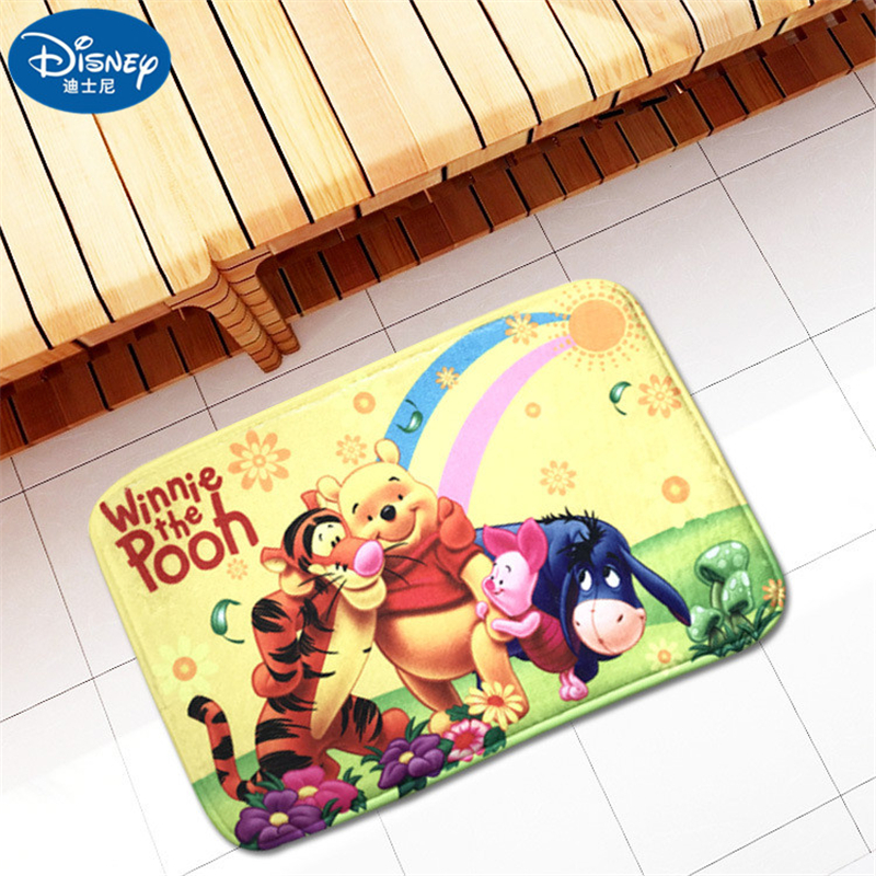 Children Cartoon Bear Mat 38x58cm Door Mat Bathroom Mat Kitchen Kids Boys Girls Crawling Game Mat Bedroom Carpet
