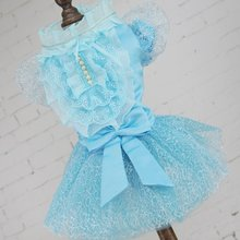 Fashion Dog Clothes Dress Sweety Princess Small Medium Dogs Teddy Puppy Polyester Party Wedding Dresses Pet Accessories