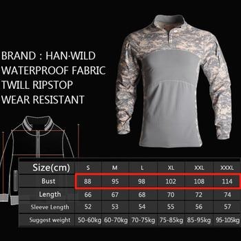 HAN WILD Men's Outdoor Hunting Tactical Shirts Air Soft Combat Tee Shirts Breathable Army Military Shirts Gray Hunting T-shirt 2