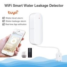 QOLELARM alarma inteligente con WIFI para el hogar Detector de fugas de agua, Notificación por aplicación, alarma con Sensor de agua, seguridad en el hogar