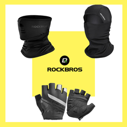 ROCKBROS Cycling Gloves Shock Absorption Breathable Bicycle Gloves Anti-slip Comfortable Fashion Printing Outdoor Sports Gloves
