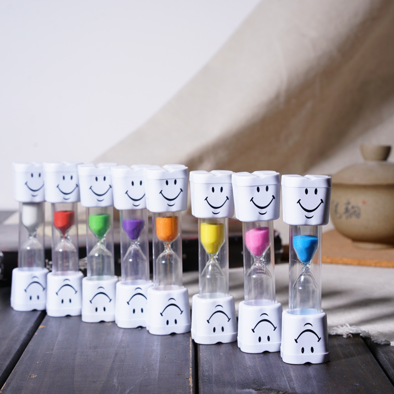 10 Pcs Dental Gift Children Tooth Brush Timer 3 Minutes Smile Sandglass Tooth Brushing Hourglass Dental Clinic Kids Products