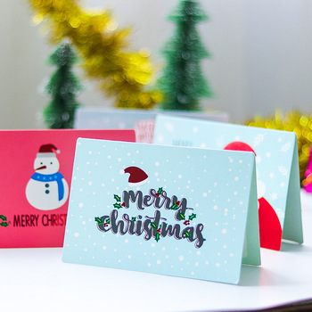 36 Pieces Merry Christmas Greeting Cards Thanksgiving Card Christmas Scrapbooking Folding  New Year Postcard Invitations Letter