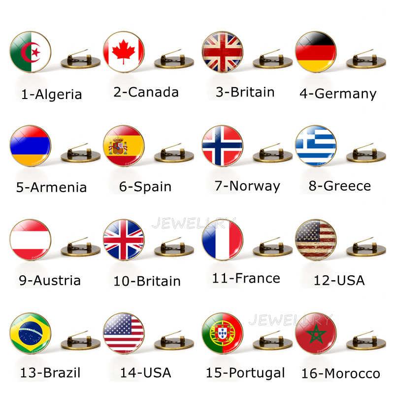 Paese Bandiere Del Mondo Spilla Spilli Nazionale Bandiera Spille America USA STATI UNITI Canada Inghilterra Spagna Russia Norvegia Dei Monili Dropshipping
