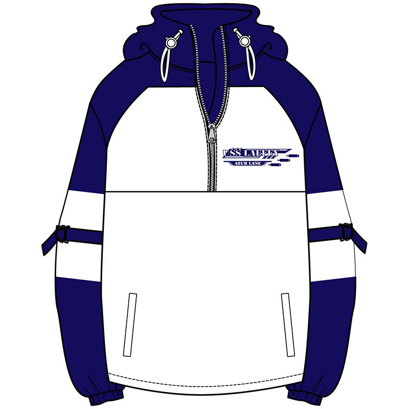 Anime Azur Lane USS Laffey Cosplay Plush Pullover Coat Autumn Winter Fashion Hoodie Zipper Sweatshirt Unisex Student Jacket Tops 1