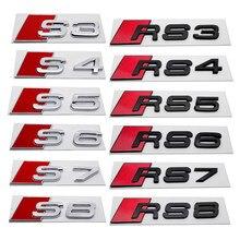 Originais Adesivo Plástico Para Audi Sline S3 S4 S5 S6 S7 S8 RS3 RS4 RS5 RS6 RS7 RS8 Logotipo A3 A4 A5 A6 A7 A8 Emblema Do Emblema Do Decalque
